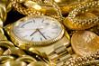 Fototapete Gold - Uhren - Armbanduhr