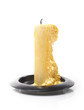 Burned candle isolated