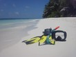 snorkeling set on beach