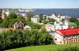 Spring scenic view of Nizhny Novgorod Russia poster