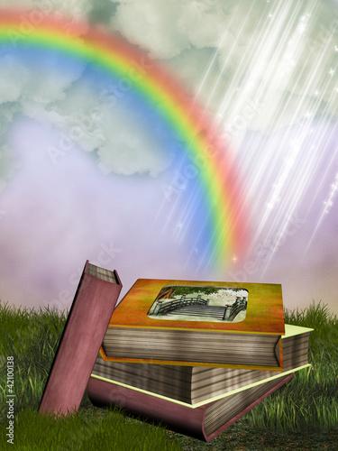 Foto op Aluminium Kasteel fantasy books