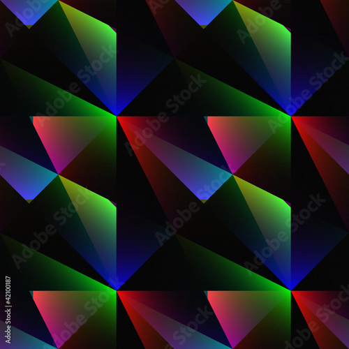Crystal face seamless abstract embossed background.