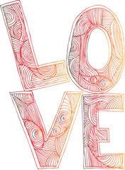 LOVE. vector illustrations