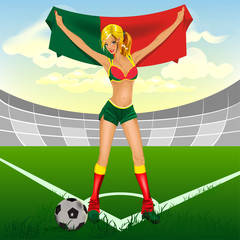 portuguese girl soccer fan