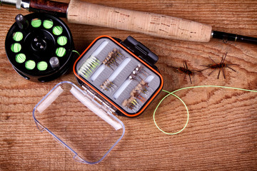Collection of fly fishing equiptment