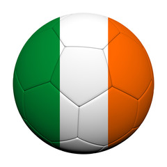 Ireland Flag Pattern 3d rendering of a soccer ball