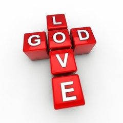 Gott ist Liebe Kreuz