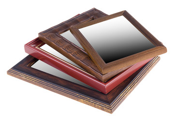 Wooden frames stacked on each other