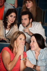 Moviegoers in Suspense