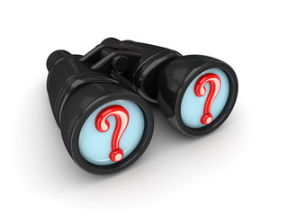 Binoculars with query symbols.
