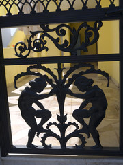 Ironwork Gate in Fira Santorini Greece