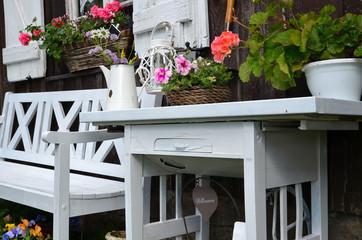 Garten Tisch und Bank