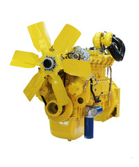 yellow diesel engine