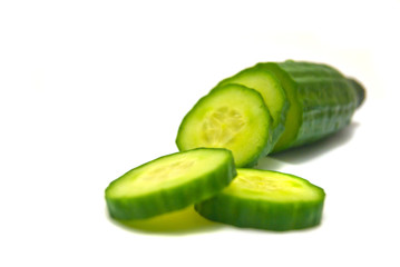 fresh cucumber close-up