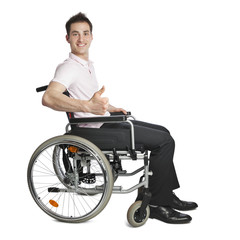 Young professional in wheelchair