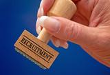 Recruitment Stempel mit Hand poster