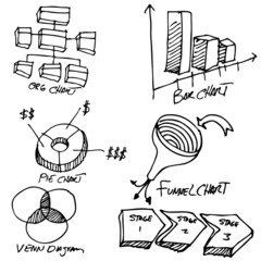 Business Chart Object Set