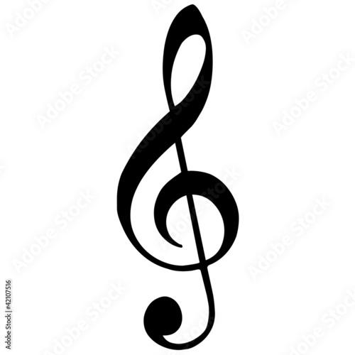 Leinwanddruck Bild Violinschlüssel