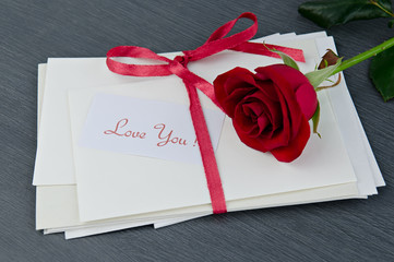 Envelopes with love you message