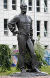 Monument to John James Hughes - founder of Donetsk, Ukraine poster