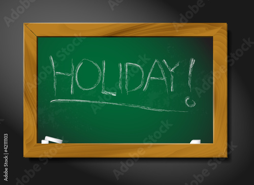 Vector school blackboard illustration - holiday