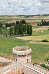 Valle de Hornija desde el castillo de Torrelobatón en Valladolid