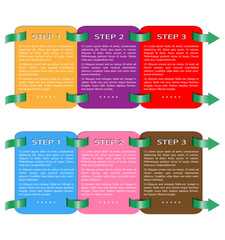 Paper progress template, steps from 1 to 3