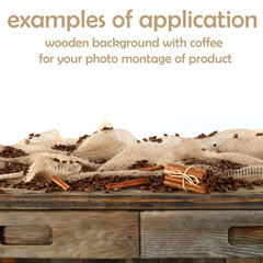 coffee background and white space for your product