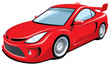 Vector isolated red sports car