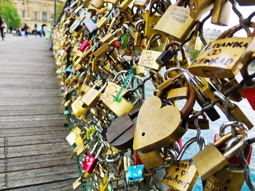 Paris, Frankreich. Symbole der Liebe
