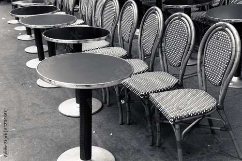 Street view of a coffee terrace