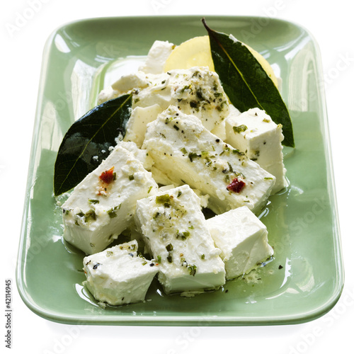 Marinated Feta Cheese with Bay Leaves