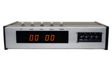 Electronic Broadcast Timer on White
