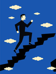 Businessman Step Career