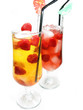 fruit cold juice drinks with raspberry