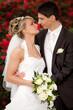 Braut will Bräutigam küssen Hochzeit - wedding