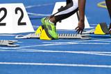 female sprinter starting poster
