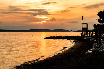 evening sunset on beach