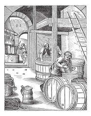Three Brewer vintage engraving