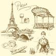 Fototapeten,paris,eiffelturm,frankreich,frau