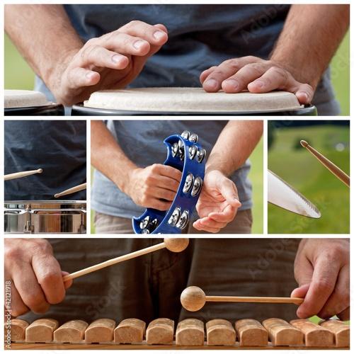 Leinwanddruck Bild schlaginstrumente