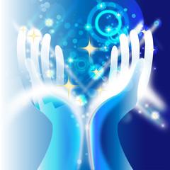 hände - himmlische energie