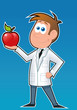 Dietitian and apple