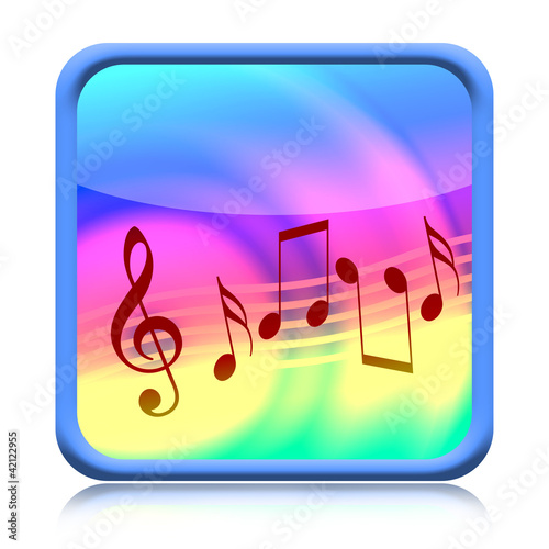 Music icon isolated on white background