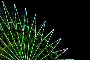 Ferris wheel in Night / color variation