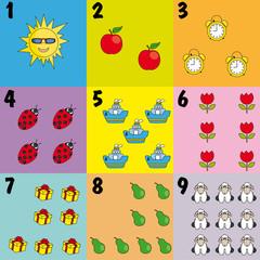 Iconos para aprender a contar