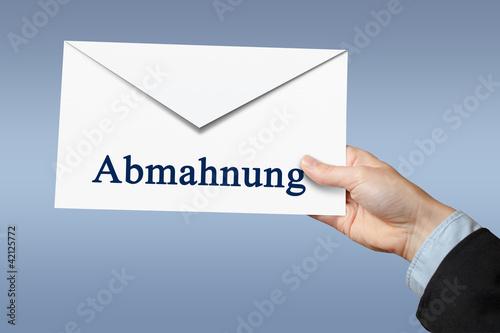 Abmahnung, Brief