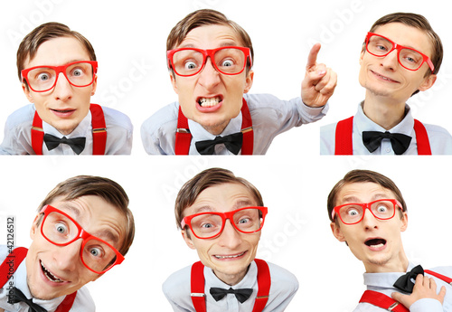 Moods of a funny nerdy guy