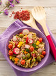 cold mixed pasta salad with tuna