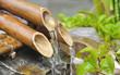 Leinwandbild Motiv fontaine en bambou